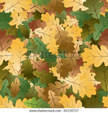 Oak leafs texture - seamless pattern