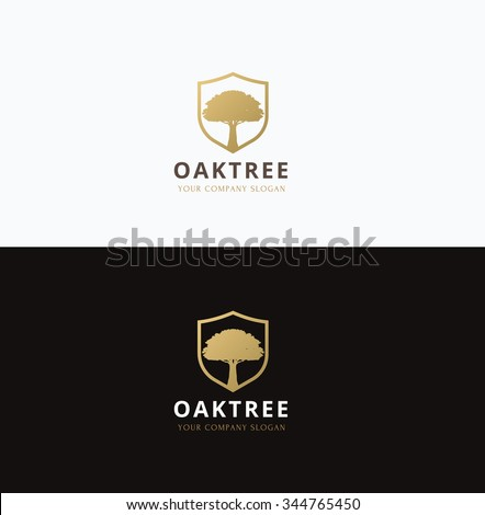oak tree logo vector logo