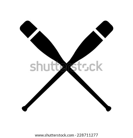 oars crossed  vector