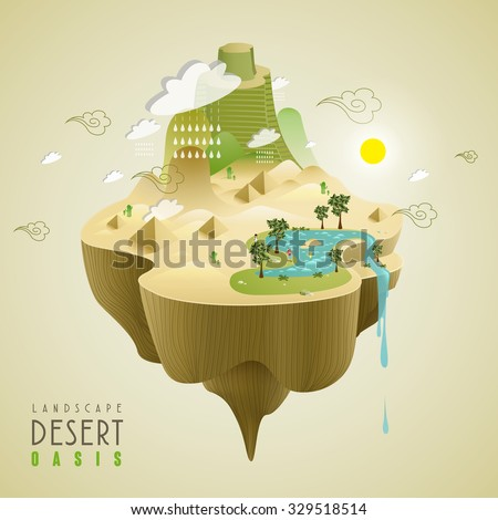 oasis in the desert concept in