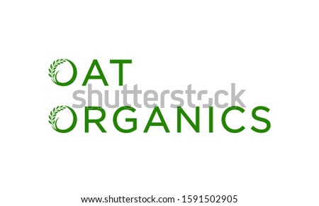 Oat and organics for agriculture logo design concept editable