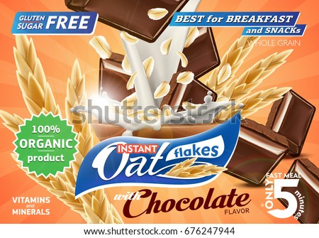 oat flakes with chocolate