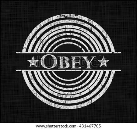 Obey on blackboard