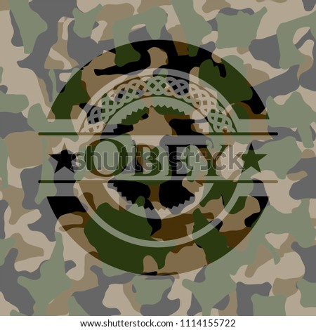 obey on camouflage pattern