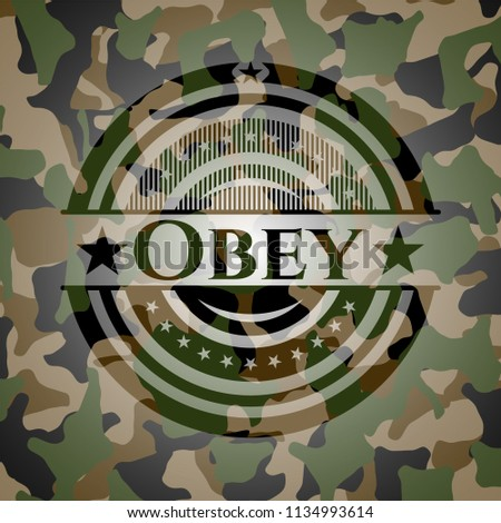 obey on camouflage texture