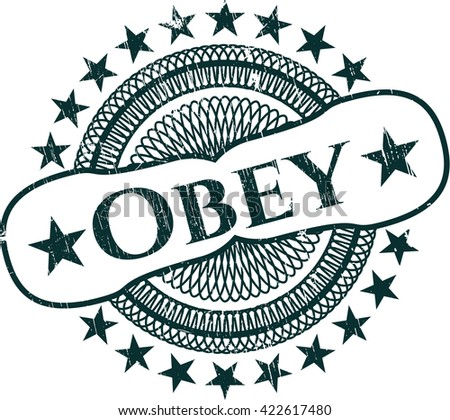Obey rubber grunge texture seal