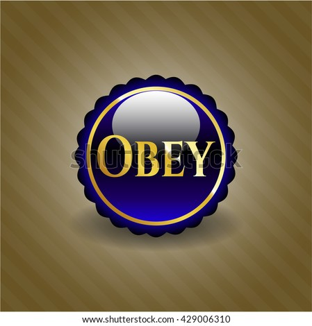 Obey shiny badge
