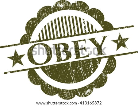 Obey with rubber seal texture