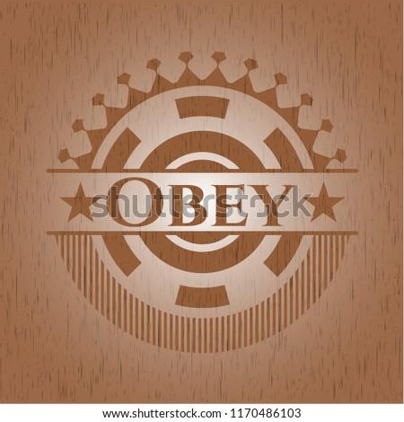 Obey wood emblem