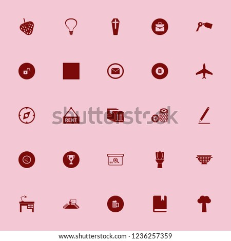 object icon. object vector icons set beer bottle, house rent, key tag and car wheels #1236257359