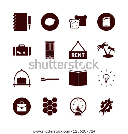 object icon. object vector icons set honeycombs, memory card, palm trees and toothbrush toothpaste
