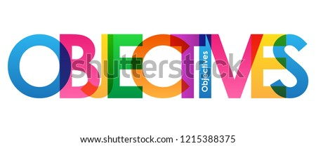OBJECTIVES rainbow letters banner