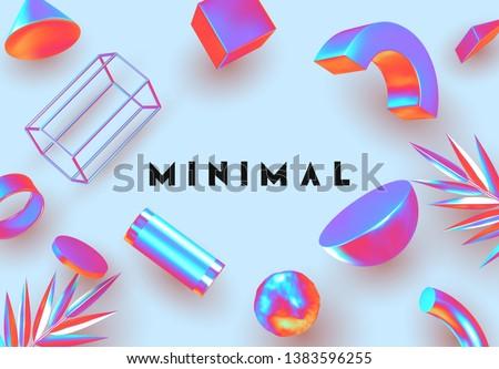 objects 3d shape vector minimal
