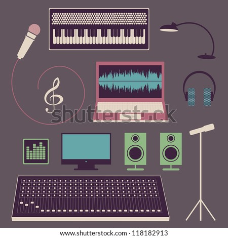 objects of musical studio