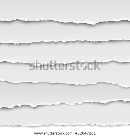 oblong layers of torn white