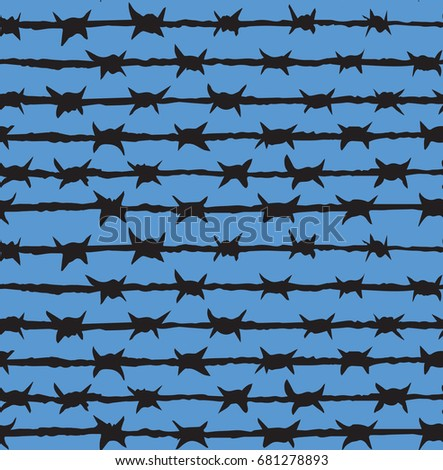 obstacle razorwire row isolated
