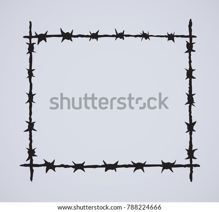 Razor Wire Set - Download Free Vector Art, Stock Graphics & Images
