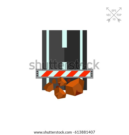 Obstruction on Road Vector Icon