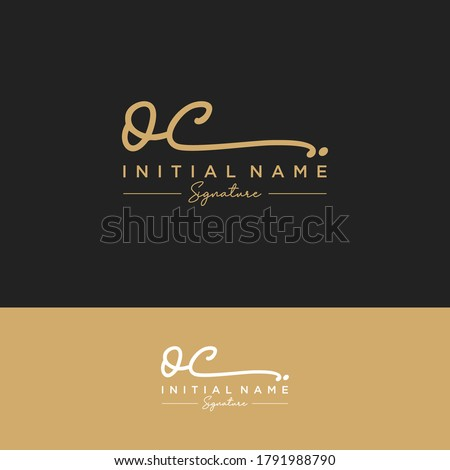 OC Initial letter handwriting and signature logo. Photo stock ©