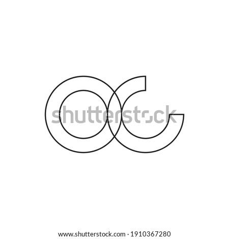 oc initial letter vector logo Photo stock ©