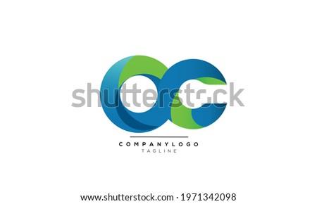 OC initials monogram letter text alphabet logo design Photo stock ©