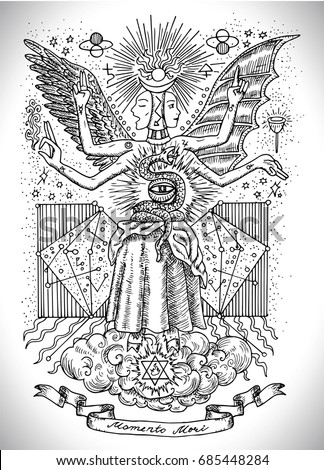 occult and new age drawing of