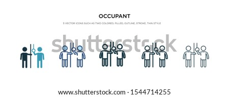 occupant icon in different style vector illustration. two colored and black occupant vector icons designed in filled, outline, line and stroke style can be used for web, mobile, ui