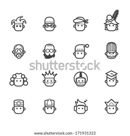 occupation black icon set 2 on
