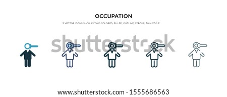 occupation icon in different style vector illustration. two colored and black occupation vector icons designed in filled, outline, line and stroke style can be used for web, mobile, ui