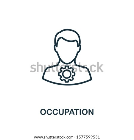 Occupation outline icon. Can be used for logo, graphic design and other.