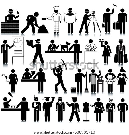 occupations icon set