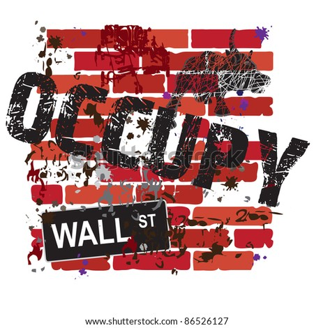 occupy wall street sign with