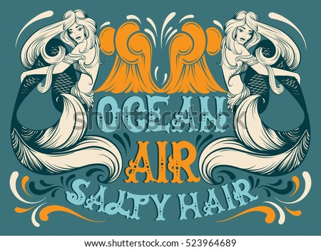 ocean air salty hair vector