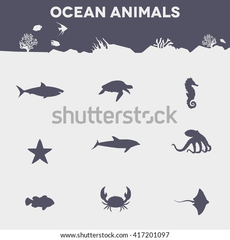 ocean animals animal icon