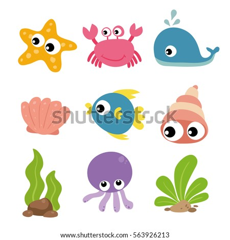 ocean animals character design