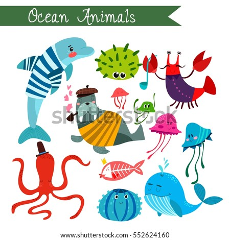 ocean animals vector