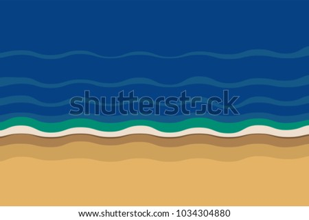 ocean beach flat graphic
