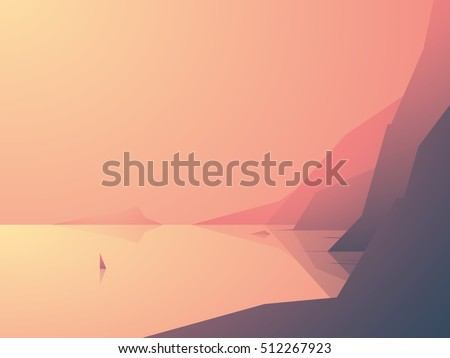 ocean coast vector illustration