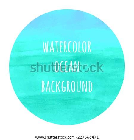 ocean colors watercolor