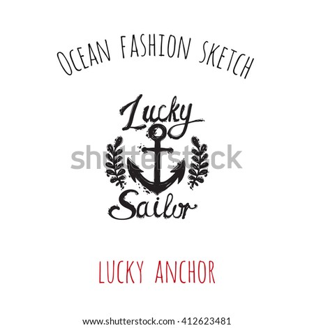 ocean fashion sketch  lucky