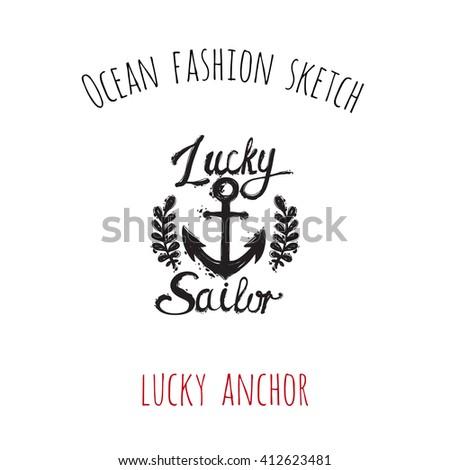 ocean fashion sketch  lucky
