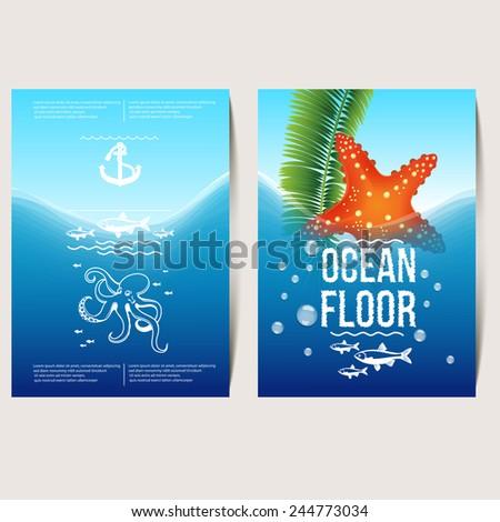 ocean floor  flyer  poster