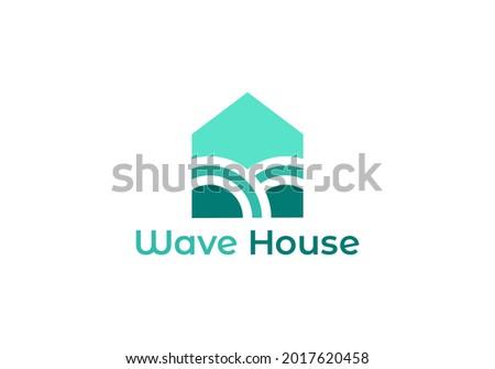 ocean house logo design  home