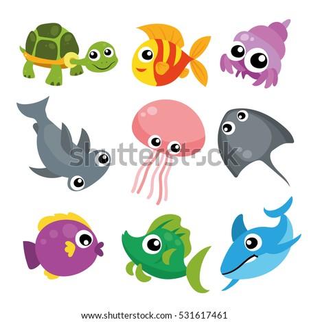 ocean life character design