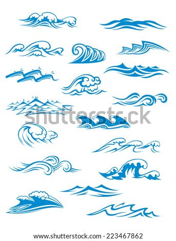 ocean or sea waves  surf and