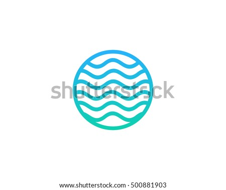 ocean sea wave logo design