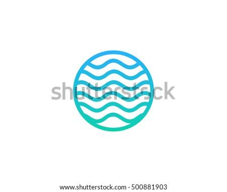 ocean sea wave logo design