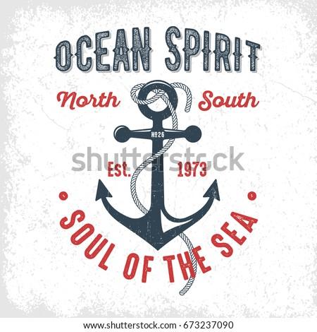 ocean spirit   vintage t shirt...