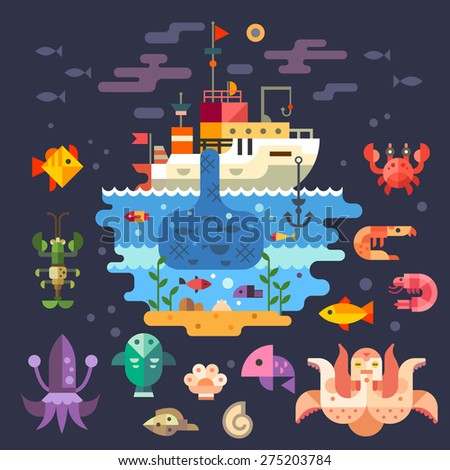 ocean underwater life  sea