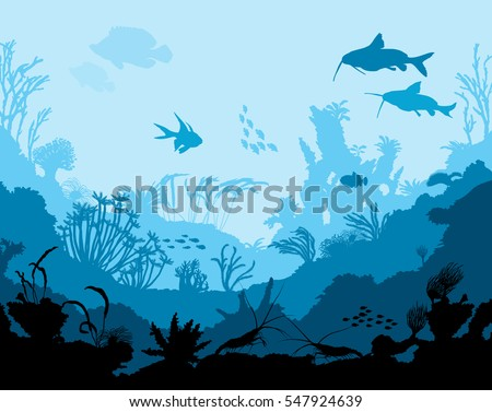 ocean underwater world with
